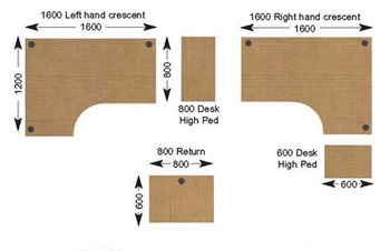 Office Desk Design Shapes